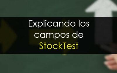 Guía de los campos de StockTest