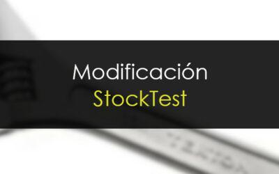 Ligera modificación en gráficos y StockTest