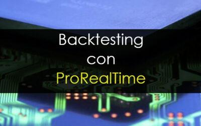 Backtesting con Prorealtime