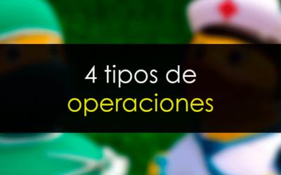 Los cuatro tipos de operaciones