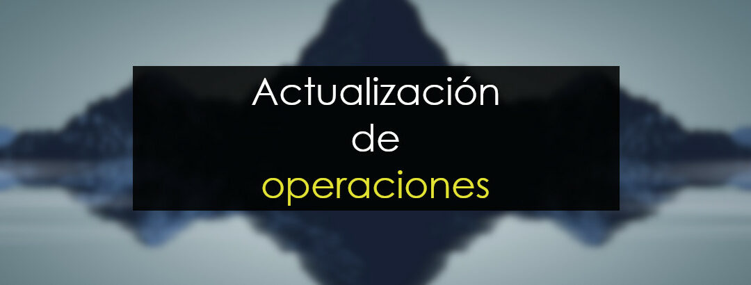 Actualización de operaciones
