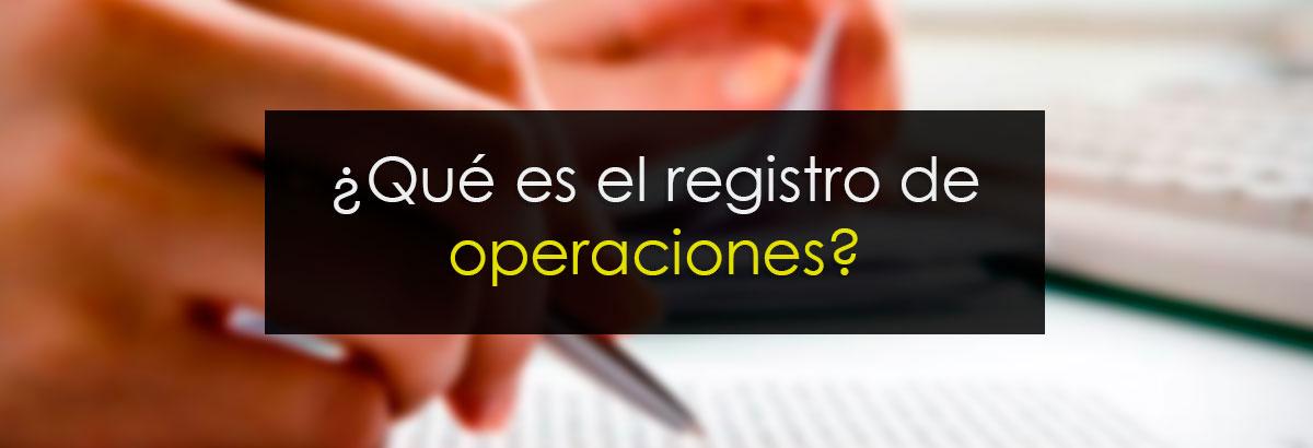 Registro de operaciones