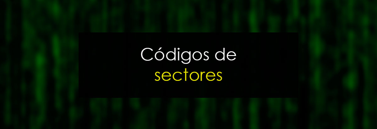 Códigos de sectores