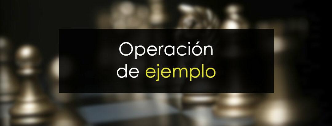 Operación de ejemplo