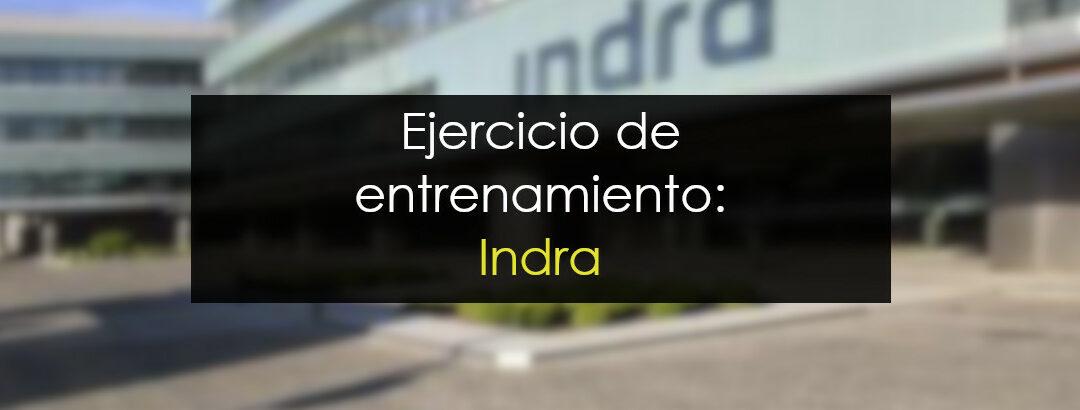 Operación de entrenamiento: Indra