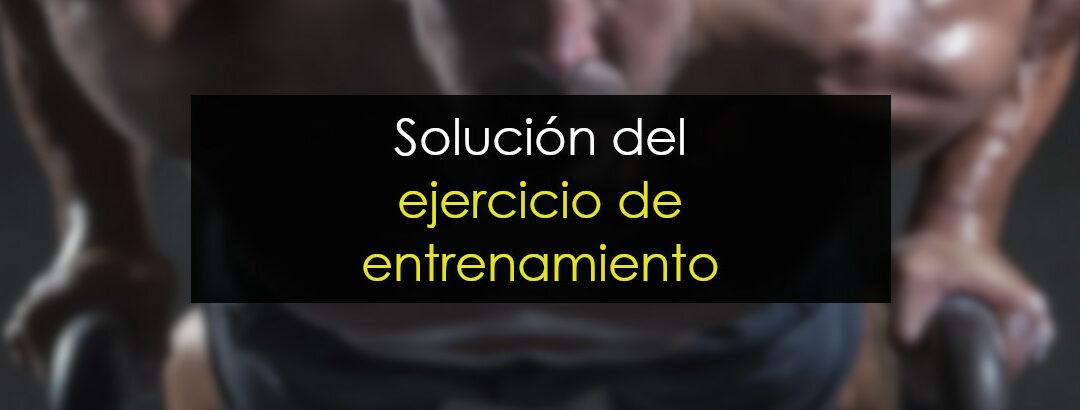 Solución del ejercicio de entrenamiento
