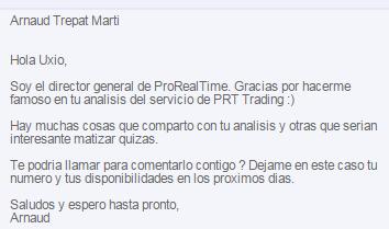 director de prorealtime trading