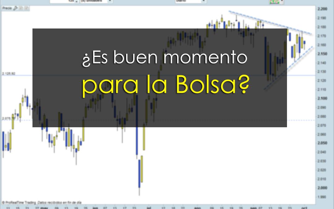 ¿Es buen momento para la Bolsa?