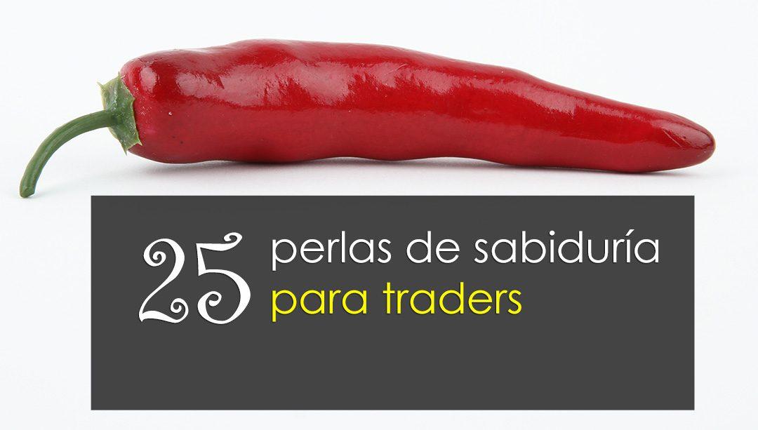 25 perlas de sabiduría para traders