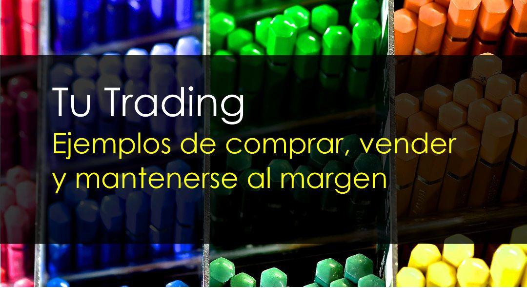 Tu trading – Ejemplos de comprar, vender y mantenerse al margen