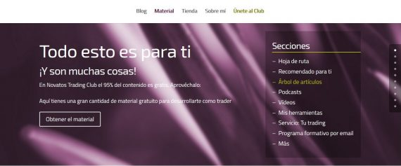materiales trading