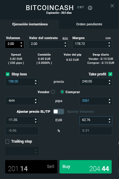 bitcoin cash trading xtb