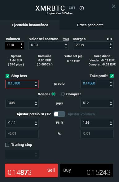 trading con monero en xtb
