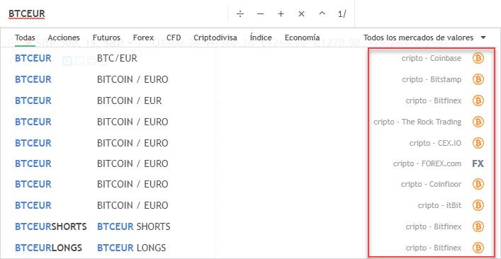 criptodivisas tradingview bitcoin euro