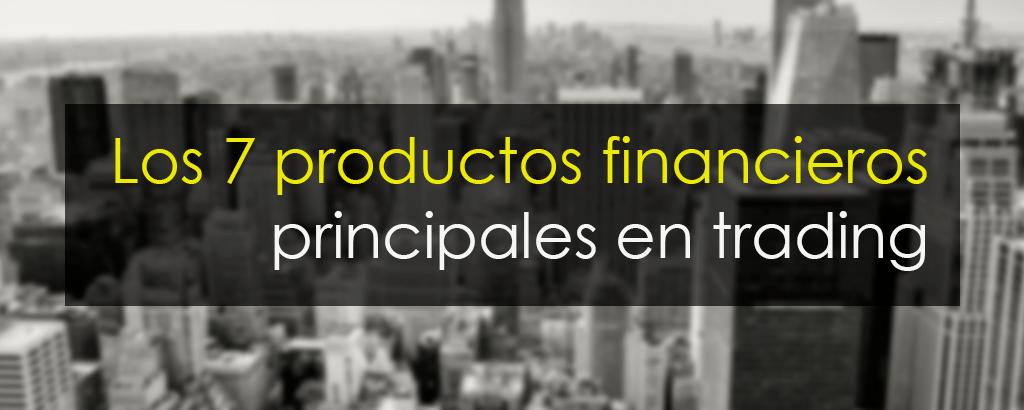 productos financieros en trading