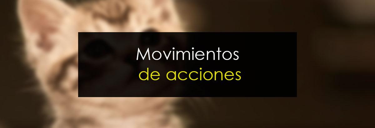 Movimientos de acciones