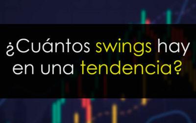 ¿Cuántos swings hay en una tendencia?