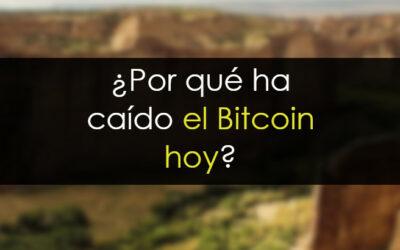 ¿Por qué ha caído bitcoin hoy?