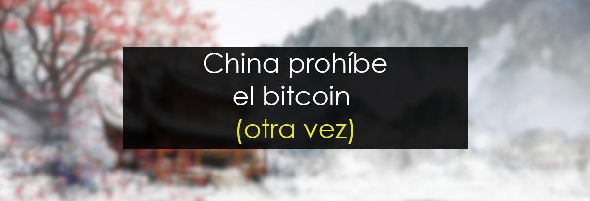 china prohibe bitcoin